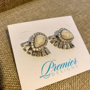 Premier Designs Teal the Show stud earrings